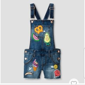 Cat & Jack Girls Denim Overalls